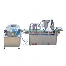 上海YB-YG4/YB-YG6爽肤水、发油、洗衣液全自动液体灌装旋(轧)盖机